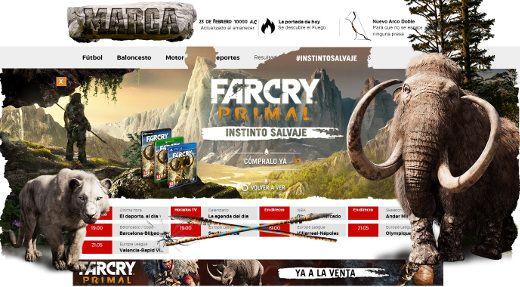 Far Cry lleva Marca a la Edad de Piedra