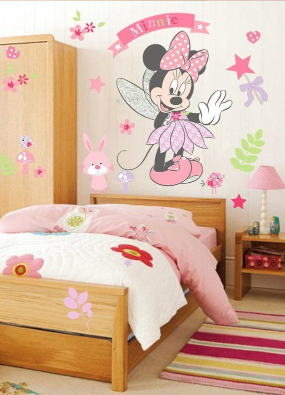 pink minnie mouse wall sticker decal for girls kids childrenand