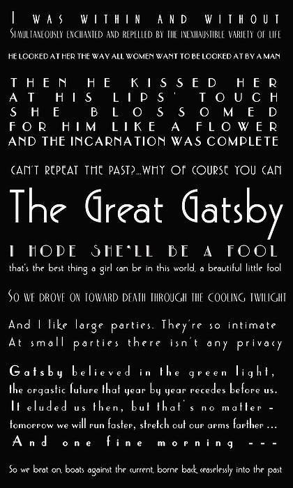 The Great Gatsby Quotes Print By Georgia Fowler Great Gatsby Quotes Gatsby Quotes Quotes