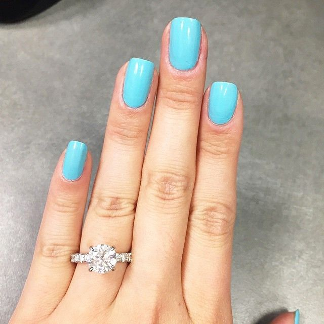 14K White Gold Thin French-Cut Pave Set Diamond Engagement