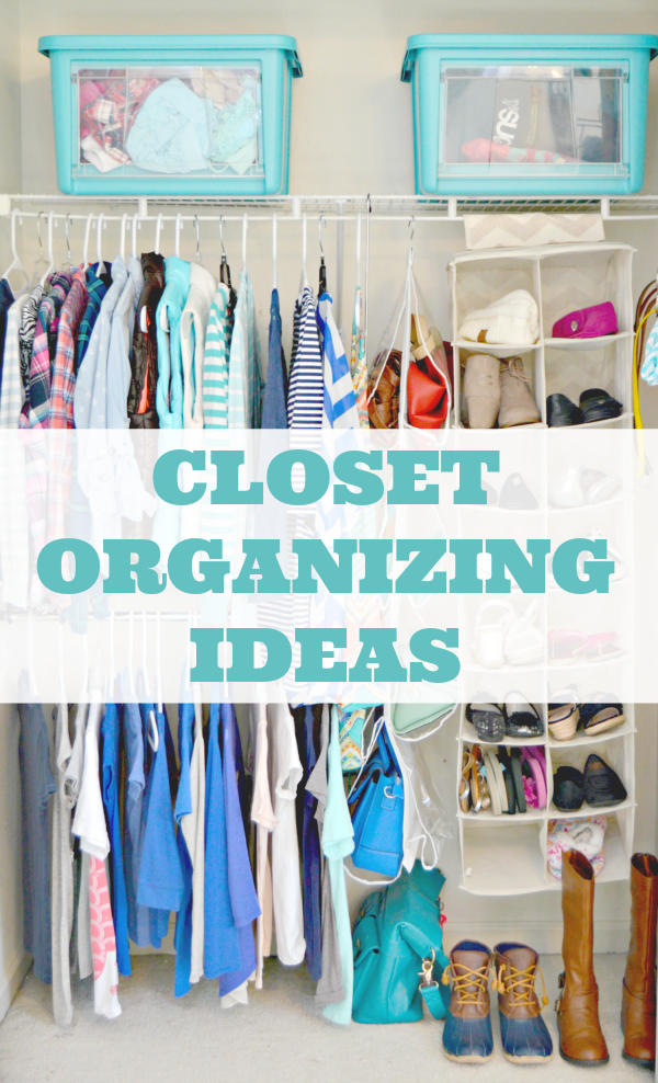 Easy Closet Organizing Ideas And Tons Of Cleaning Tips Too! Via @Mom4Real
