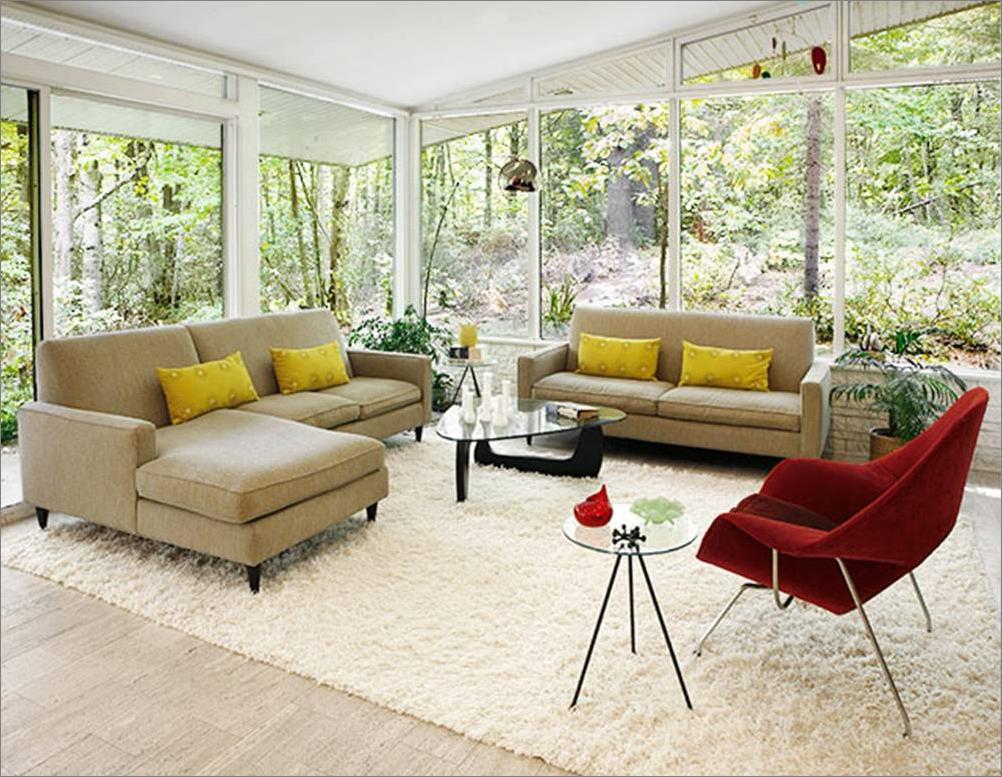 Windows-Mid-Century Modern Living Room Design Ideas | For ...