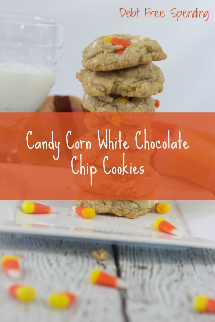 Candy Corn Cookies With White Chocolate Chips Recipe - Debt Free Spending