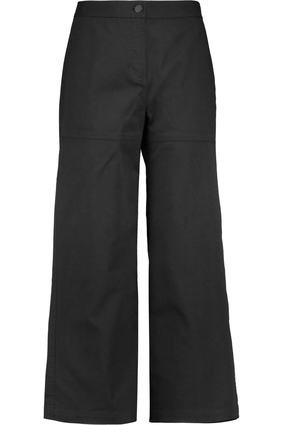 T BY ALEXANDER WANG Cropped cotton-blend wide-leg pants. #tbyalexanderwang #cloth #pants