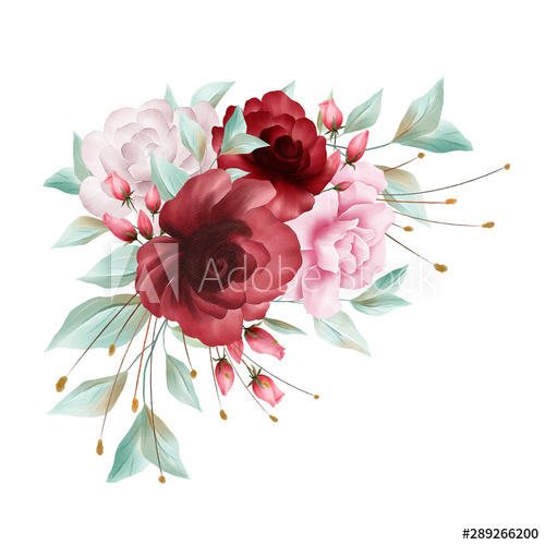 Hand Painted Red Flower Leaves Flower Clipart Hand Painted Flowers Watercolor Png Transparent Clipart Image And Psd File For Free Download Red Rose Png Hand Painted Flowers Flower Clipart