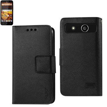 Reiko Wallet Case 3 In 1 For ZTE Speed N9130 Black With Interior Polymer
