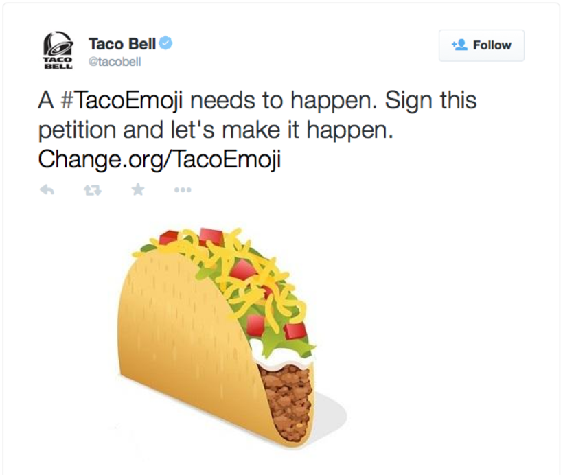 Image result for taco bell campaign emoji
