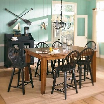 Broyhill Attic Heirlooms Rectangular Counter Height Dining Set 5397 22sv Set Broyhill Furniture Counter Height Table Dining Table