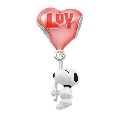 012a79e45 Persona® Sterling Silver Peanuts® Enamel Snoopy Holding