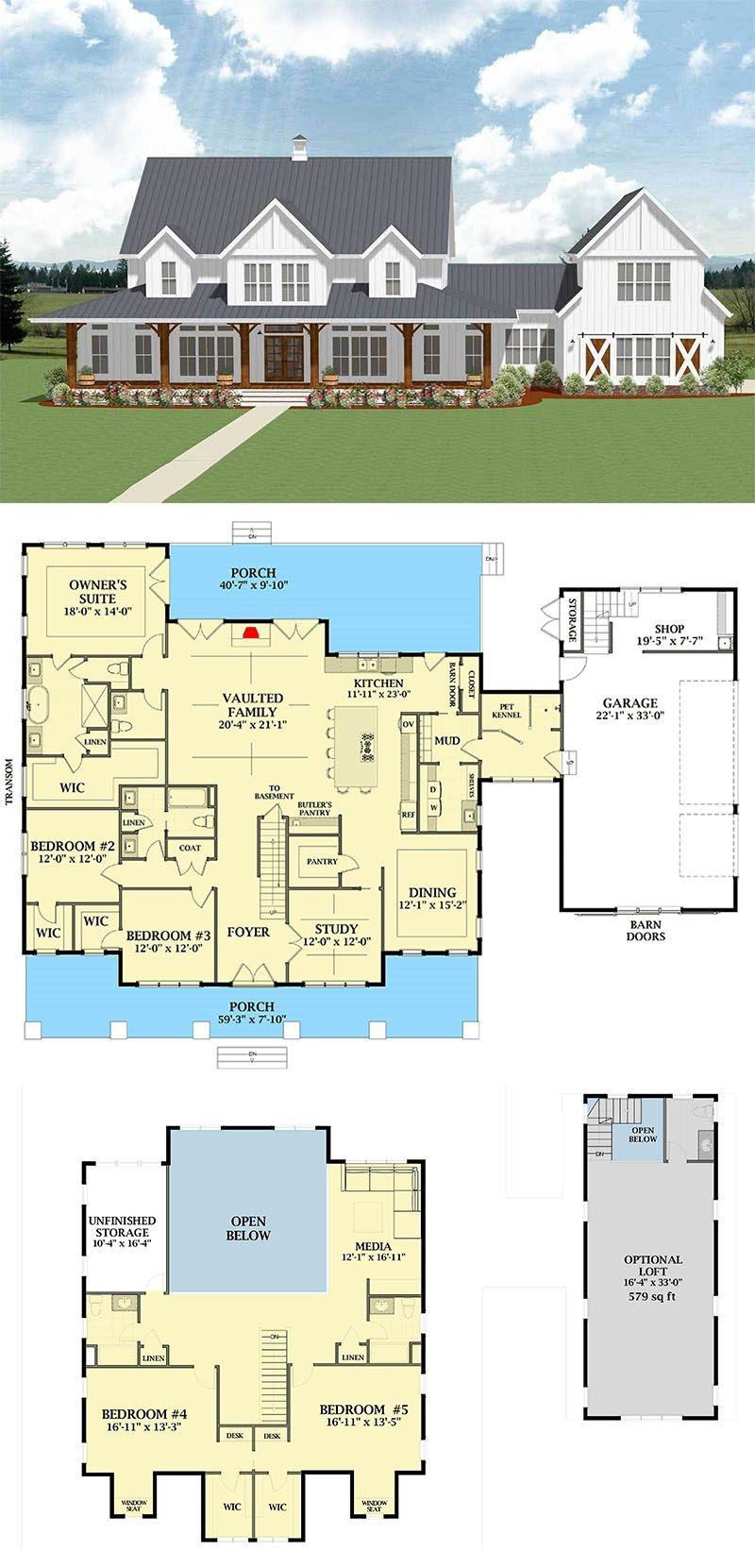 Pin di Sweet home Farm House Floor Plans With Diions on