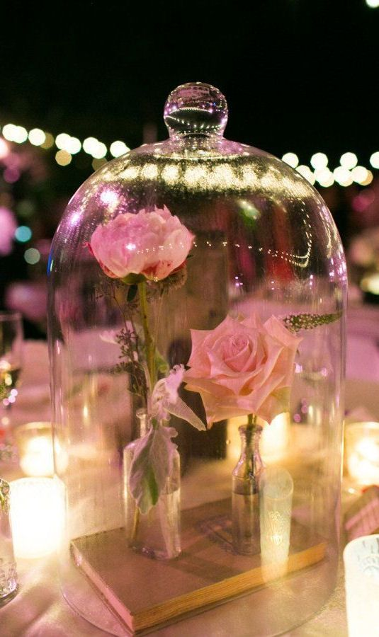 Beauty & The Beast Centerpieces | Love This Idea ... SO cUte!