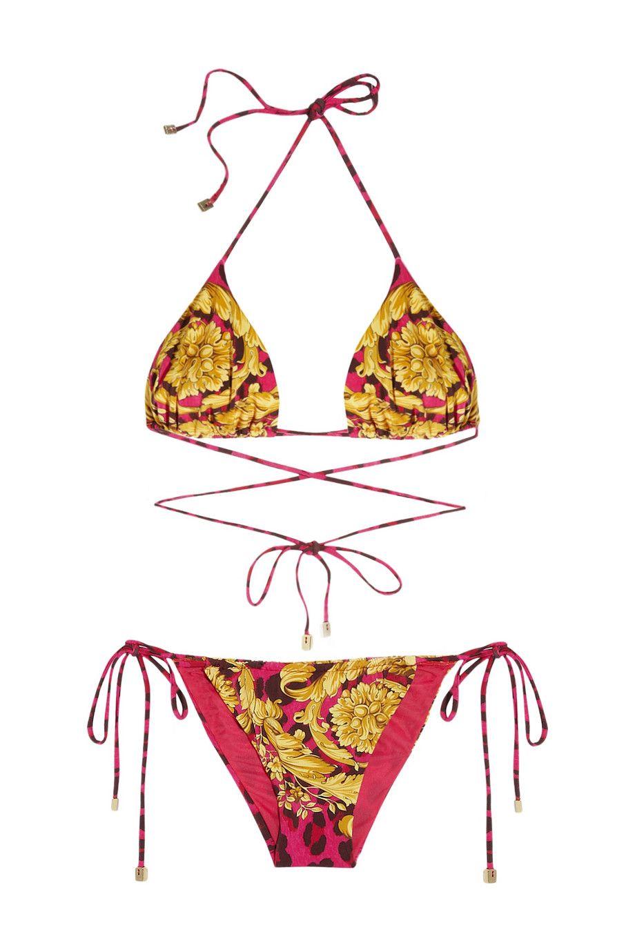 23fa52794d4 Versace | Printed triangle bikini | NET-A-PORTER.COM | Fashion Luv ...