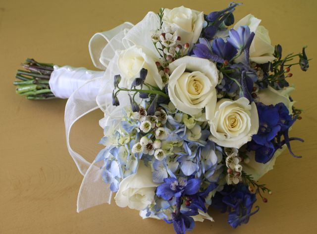 White And Blue Wedding Bouquets Bouquet Package Deals Available At Belvedere Flowers