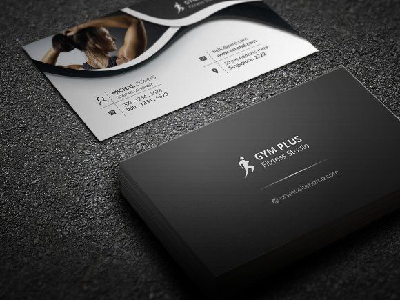 Gym Fitness Business Card Templates Features Of Business Card - Fitness business card template