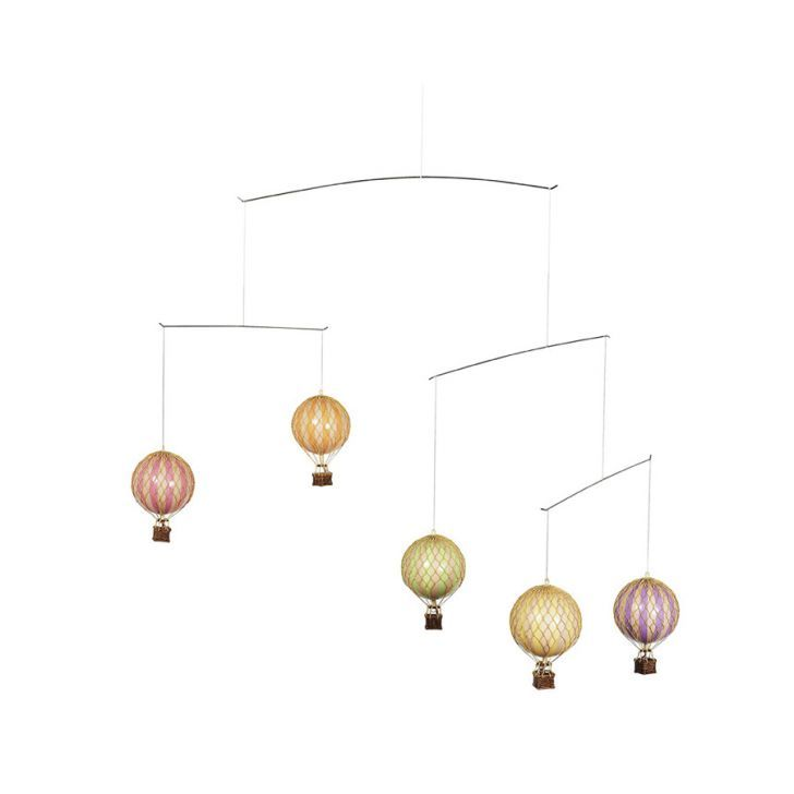 Hot Air Balloon Mobile Pastel By Authentic Models