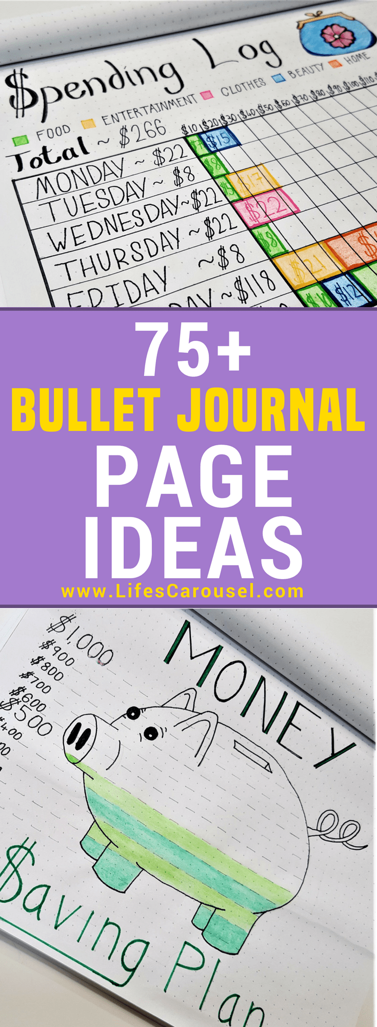 Bullet Journal Page Ideas - The Ultimate List of 75+ Bujo Page Ideas #halloweenbulletjournal