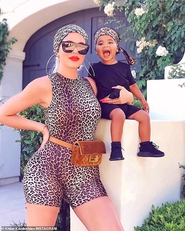 Khloe Kardashian is twinning in leopard print with baby True #khloekardashian
