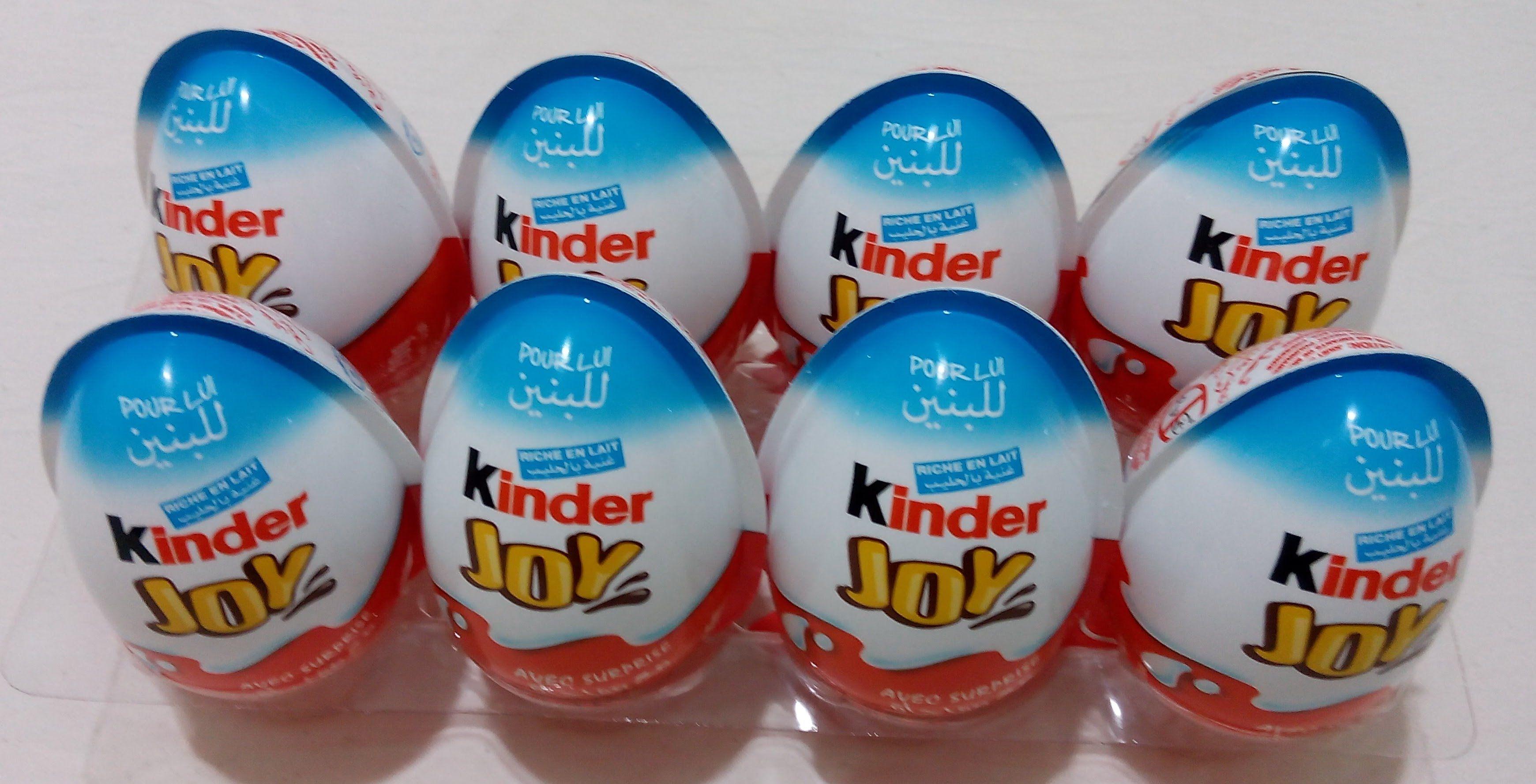 بيض المفاجآت 8 بيضة المفاجأت كندر جوي العاب أولاد و بنات Eggs Food Joy
