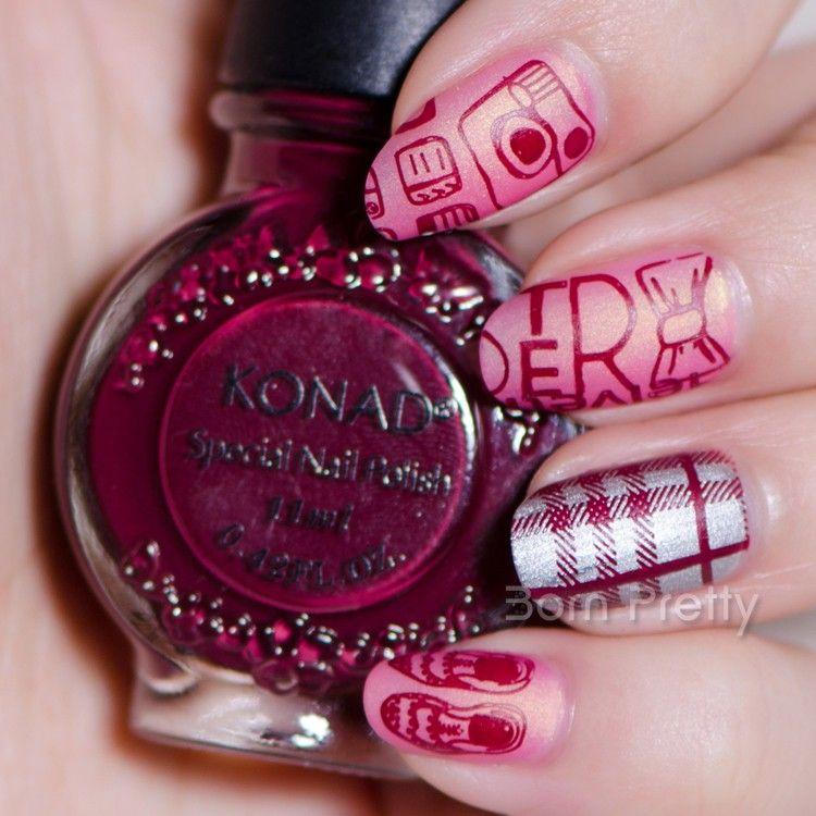 $7.59 11ml Red Wine Color Konad Nail Art Stamping Polish Stamping ...