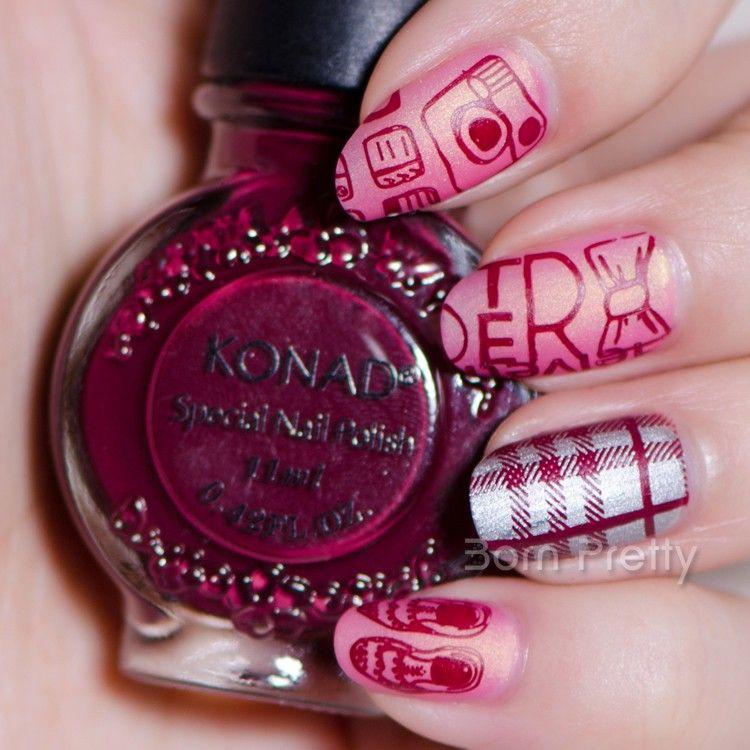 7 59 11ml Red Wine Color Konad Nail Art Stamping Polish 38 Bornpretty