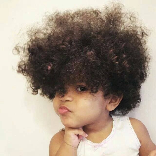 """""""Baby Girl"""" got soft curls and attitude! 