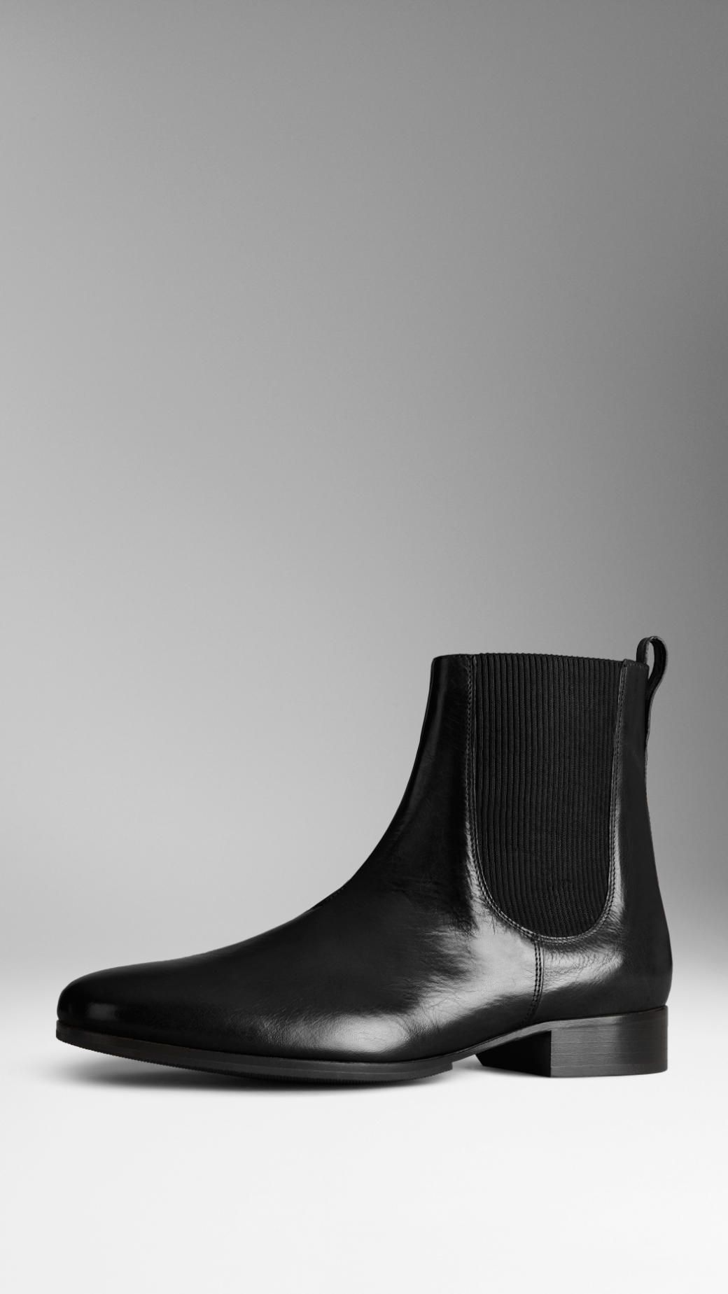 Buffalo Leather Chelsea Boots | Burberry | Wrinkled Clothes