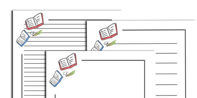 Literacy Page Borders - page border, border, frame, writing frame - lined pages for writing