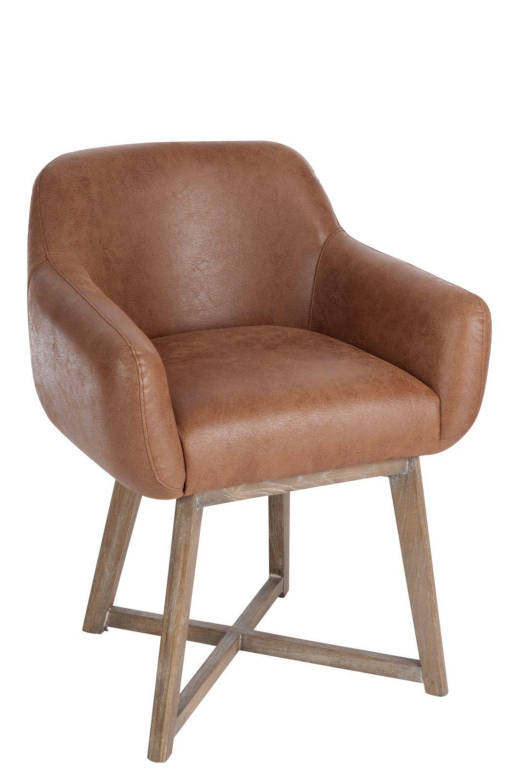 Chaise croix cuir marron 62x56x77cm   Produits décoration design intérieur    Pinterest f3e7eda85256