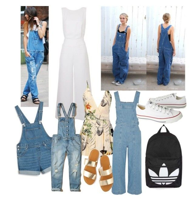 #trends #macacão  #overalls #summer #spring #Autumn by anan-liza on Polyvore featuring polyvore fashion style Current/Elliott Hollister Co. Calvin Klein Monki Converse Topshop Birkenstock Tufi Duek clothing