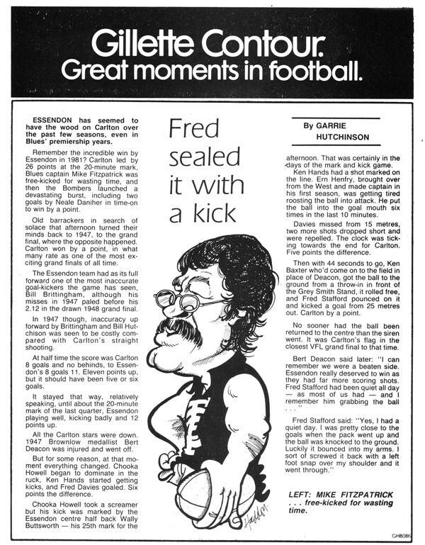 Blueseum - History of the Carlton Football Club | Grand Final, 1947