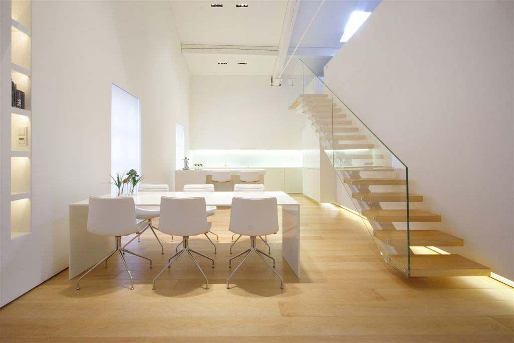 modern minimalist como loft dining area