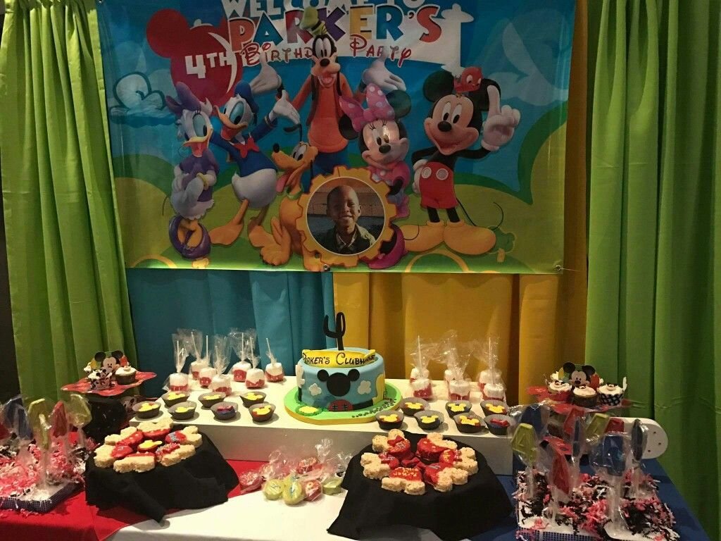Mickey Mouse Clubhouse Candy Table | Mickey Mouse Clubhouse 4th ...