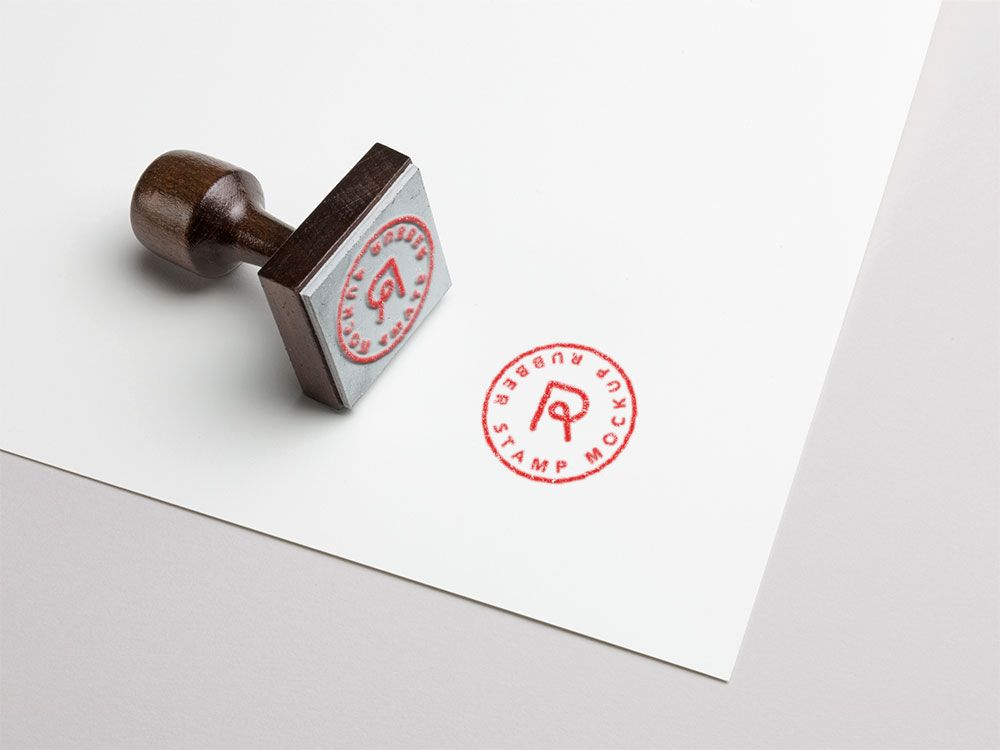 Free Psd Rubber Stamp Mockup