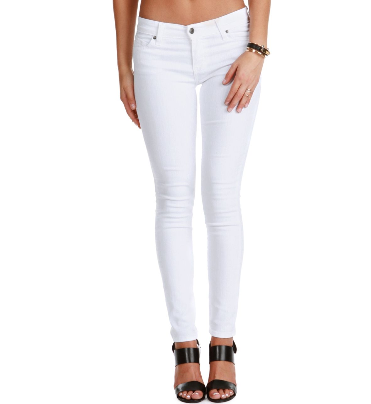 SALE-White on White Skinny Jeans