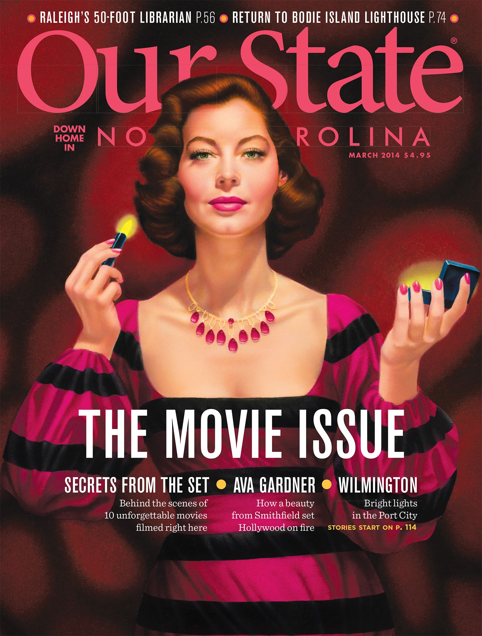Ava on the Cover of Our State Magazine, March 2014.