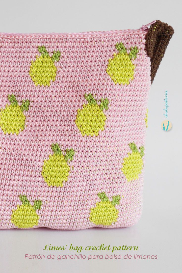 Lemons bag | |crochetery| | Pinterest | Patrón gratis, Esquemas y Free