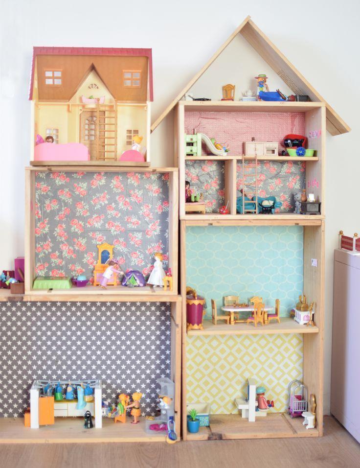 DIY ein Haus für Playmobils Weinkiste