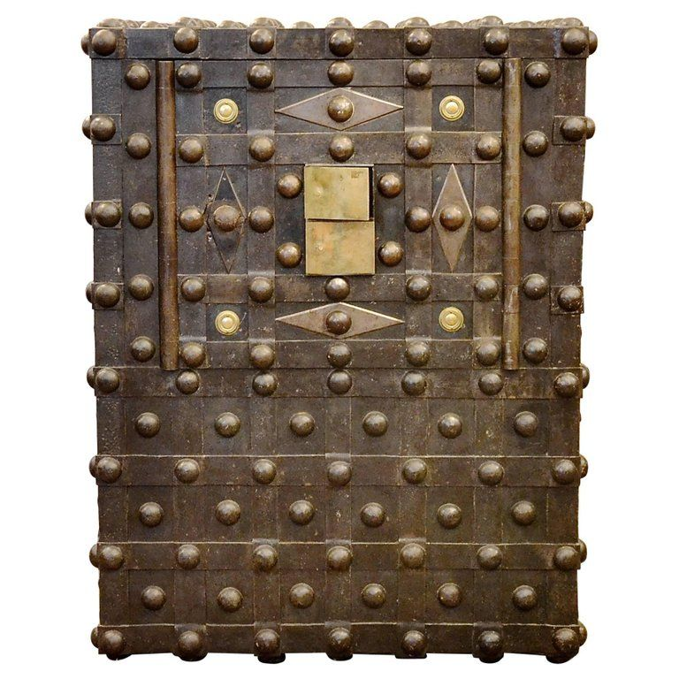 Beautiful Early 19th Century French Empire Studded Safe