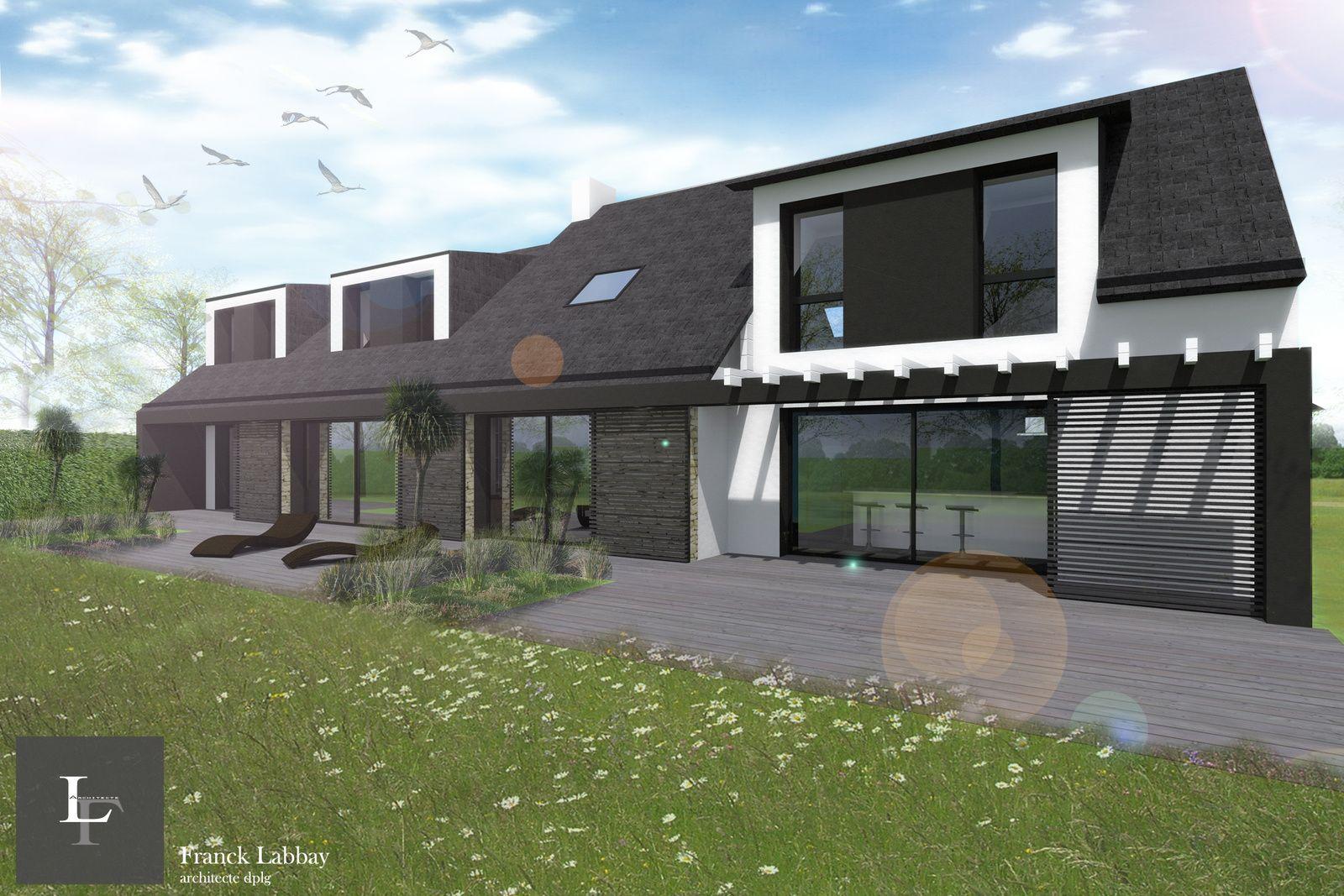 renovation maison neo bretonne 5 maison b extension et renovation dune maison neo toitures. Black Bedroom Furniture Sets. Home Design Ideas