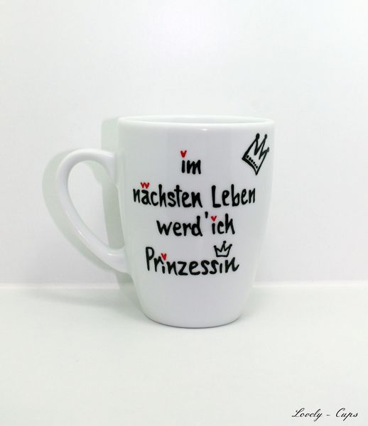 prinzessin tasse mit krone tasse tee kaffee von lovely cups auf diy tassen. Black Bedroom Furniture Sets. Home Design Ideas