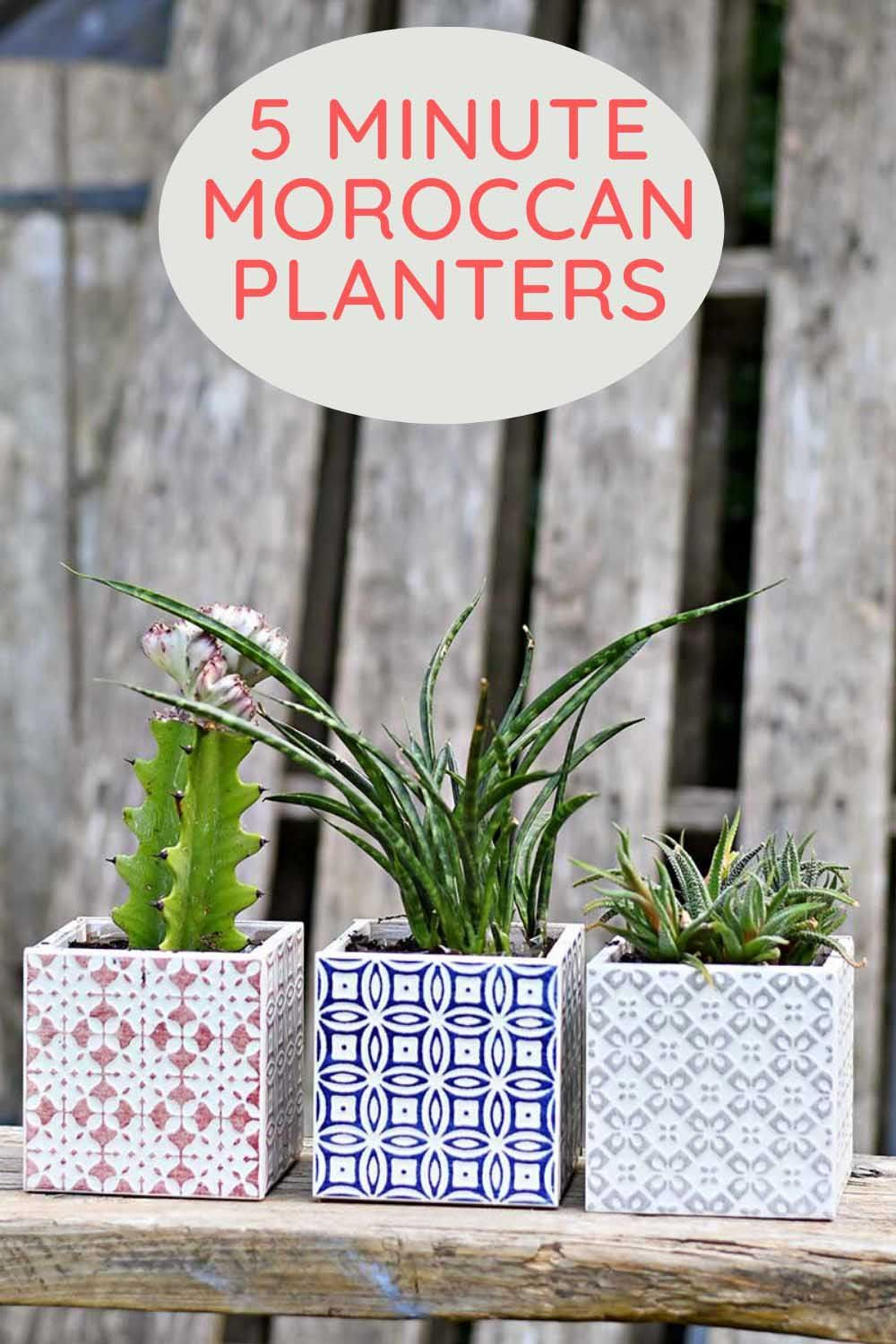 Photo of Make Beautiful Moroccan Planters In Under 10 Minutes – Pillar Box Blue