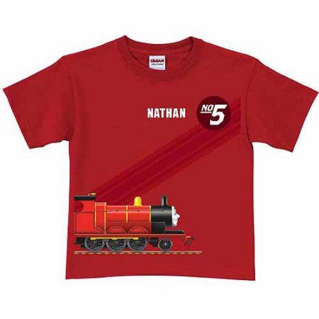 Personalized Thomas Friends James No 5 Boys Red T Shirt
