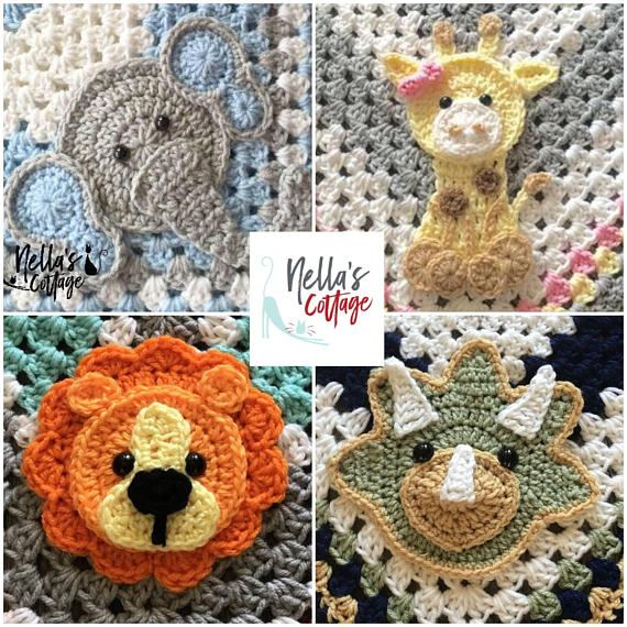 CROCHET ZOO ANIMALS - Pdf Download - Pattern Only - Lion - Elephant ...
