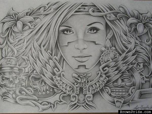 Chicano arte brown pride art prison art pinterest - Brown pride drawings ...