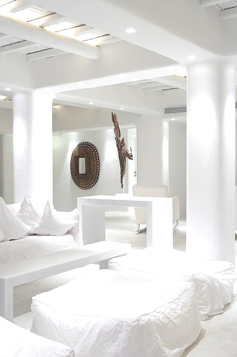 Small Hotel Room: All White.....in A Luxury Hotel Mykonos