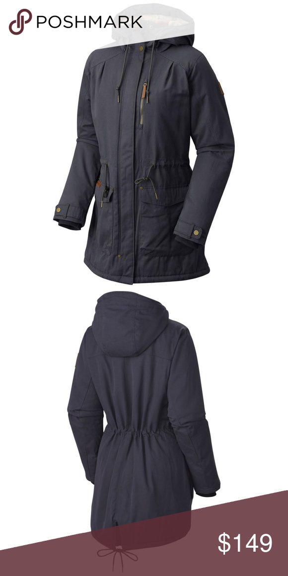 f39f6b6db Columbia Cross Canyon Navy Cinch Waist Parka Medium in India Ink (Navy  Blue).