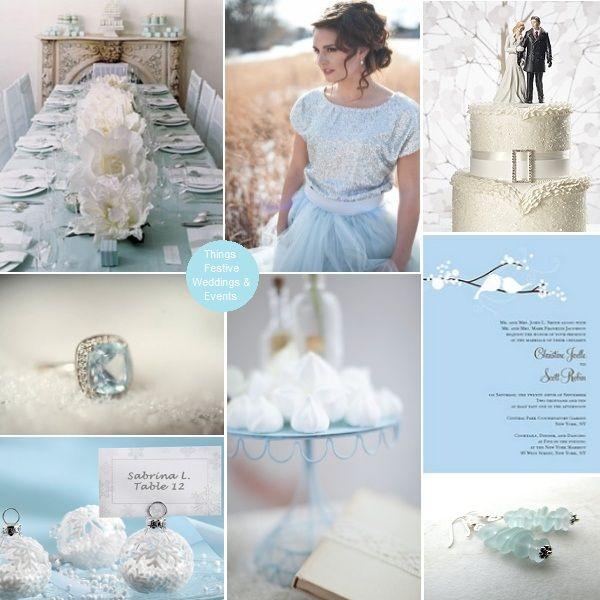 Things Festive Wedding Blog Ice Blue Winter Wedding Theme Dusky