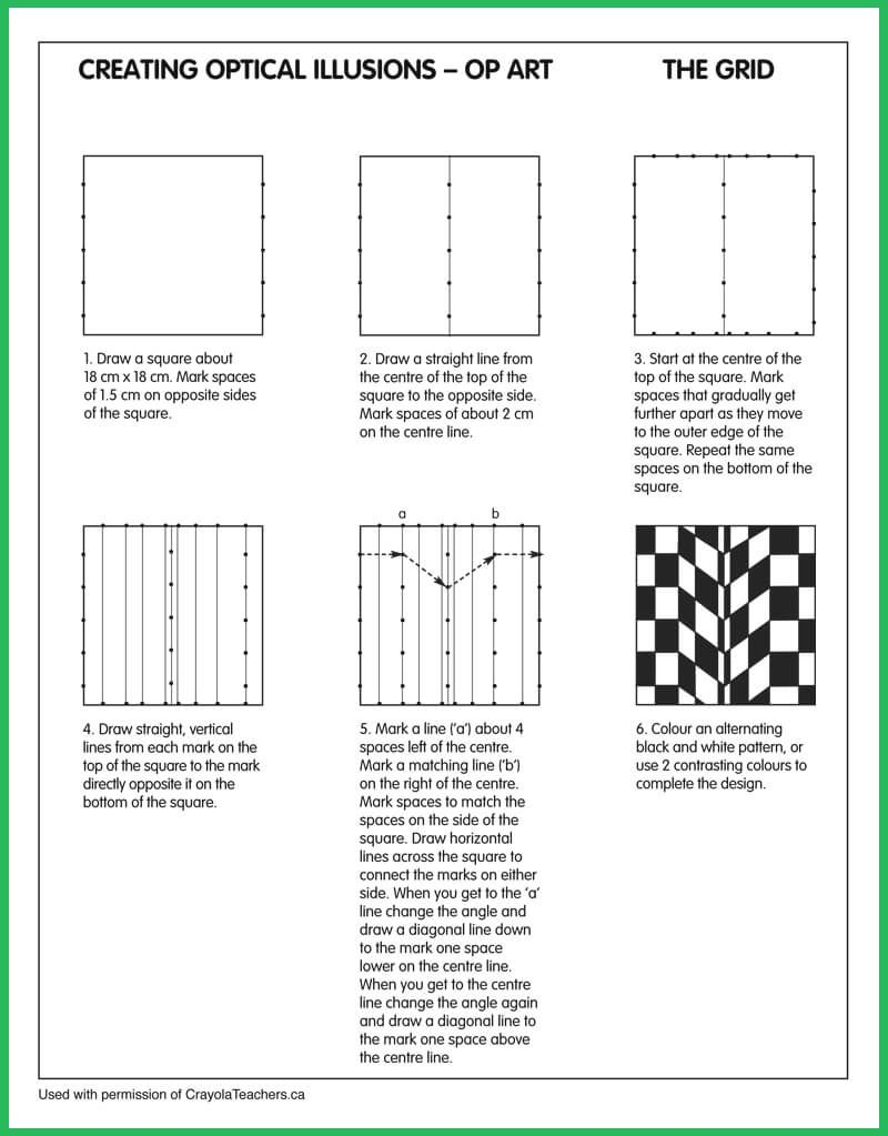 Worksheets Grid Art Worksheets optical illusions grid seton hall pinterest op grid