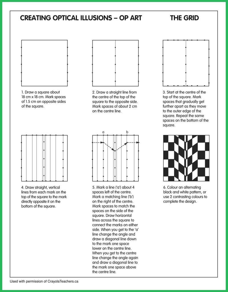 Worksheets Optical Illusion Worksheets optical illusions grid seton hall pinterest op art grid