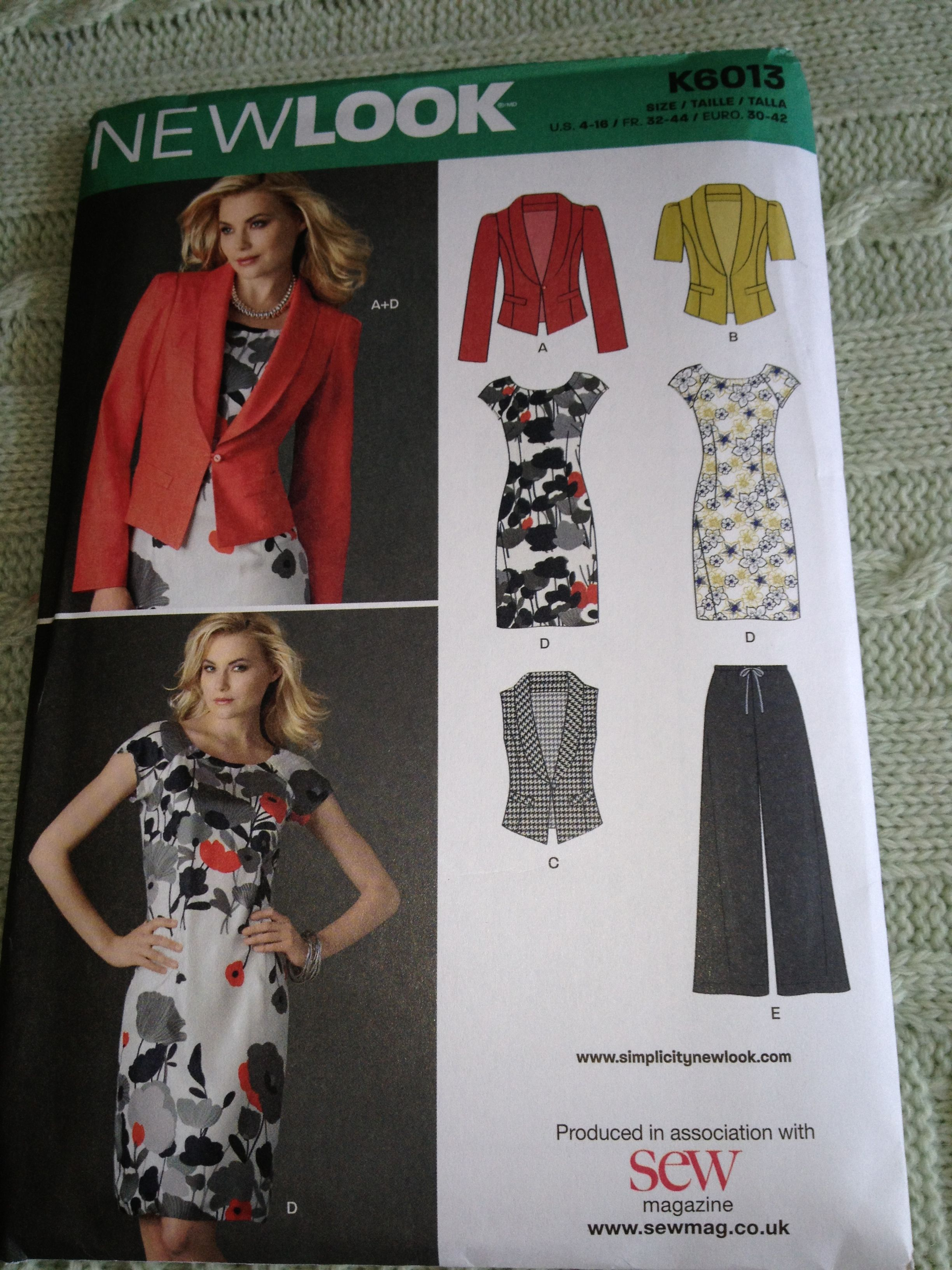 New look dress and jacket pattern No K6013